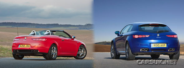Alfa Brera & Alfa Spider get new engines and Italia Independent trim