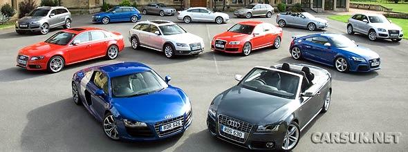 The Audi Range 2010