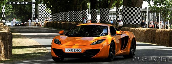 The McLaren MP4-12C Goodwood hillclimb
