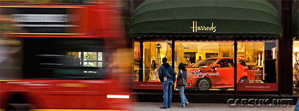 The Aston Martin Cygnet at Harrods