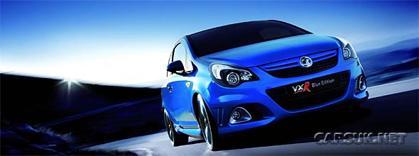 The Vauxhall Corsa VXR Blue