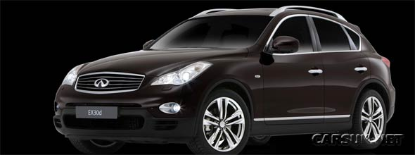 The Infiniti EX30d Black Premium
