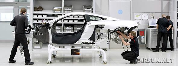 First McLaren MP4-12C being built