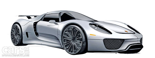 Porsche 918 Spyder production sketch