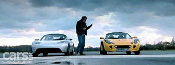Top Gear Tests the Tesla Roadster against a Lotus