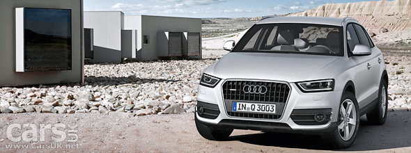 Audi Q3 revealed ahead of the Shanghai Motor Show.