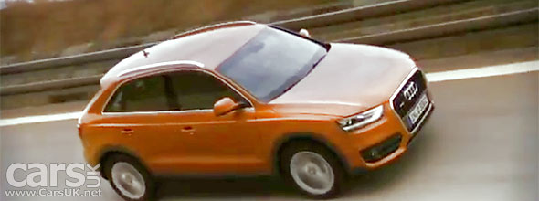 Video showing the 2012 Audi Q3 on track