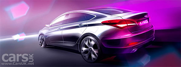 Hyundai i40 Saloon for Europe Barcelona Show Reveal