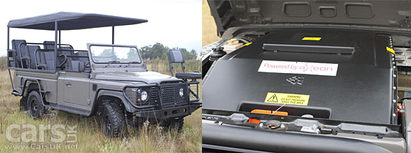 Electric Land Rover Defender fro Safari in South Africa by Axeon
