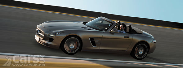 Mercedes SLS AMG Roadster Video showing the Roadster looking better than the Gullwing