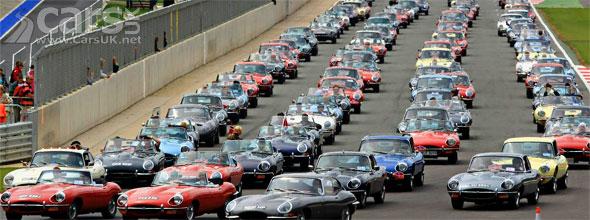 E-Type Jaguar Silverstone Parade