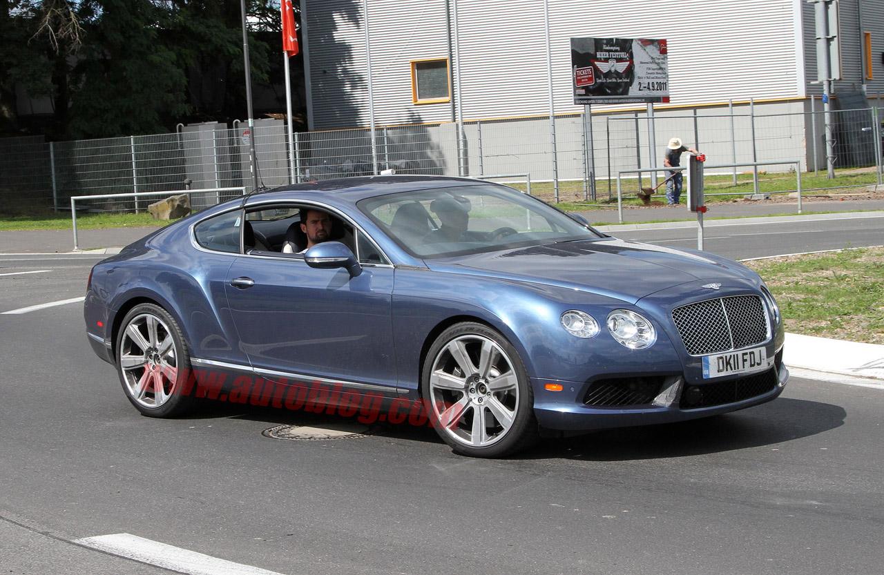 Bentley Continental Gt V8 2012 Spied Undisguised