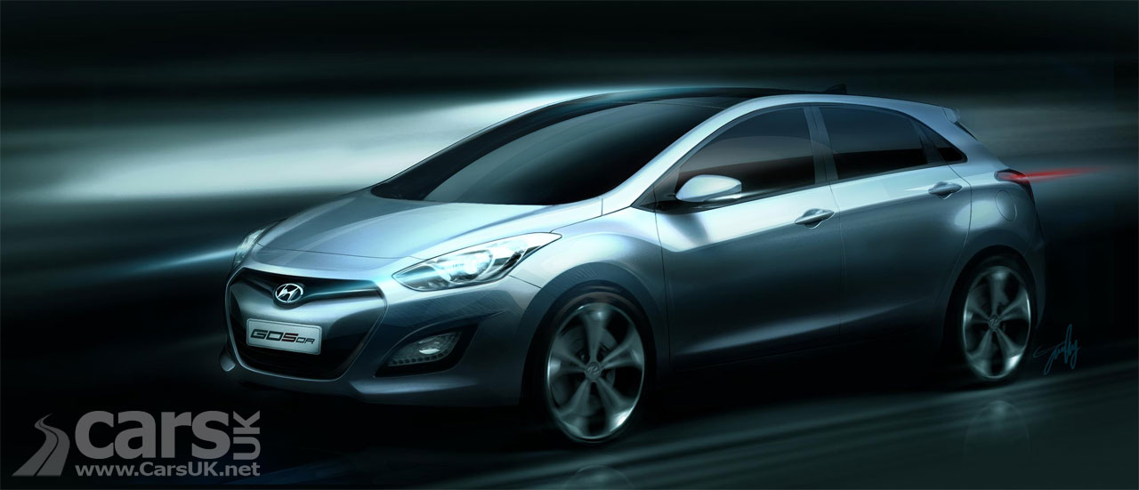 new hyundai i30 2012 previewed ahead of frankfurt. Black Bedroom Furniture Sets. Home Design Ideas