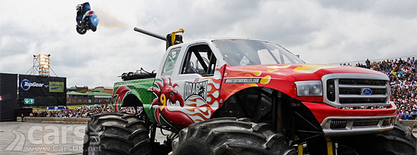 Red Dragon Ford 350 Monster Truck joins Top Gear Live