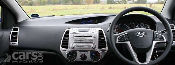 Interior of Hyundai i20 Blue 1.4 CRDi 90PS