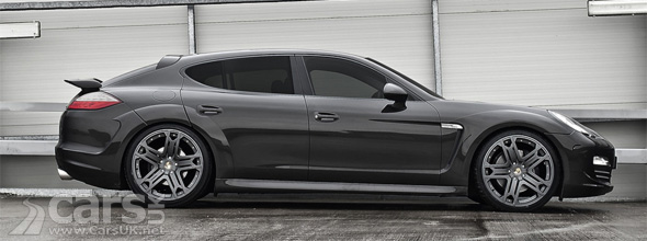 Side view of grey Porsche Panamera Wide Track