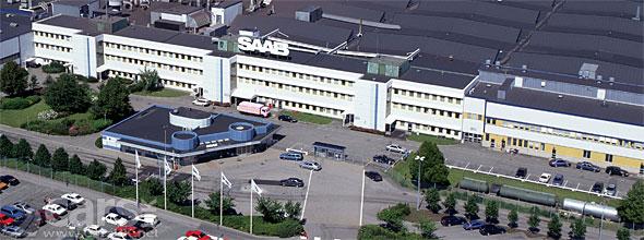 Saab's factory in Trollhatten