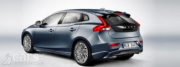 Rear view new Volvo V40