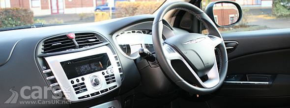 view of the dashboard on the Chrysler Delta