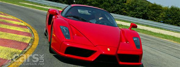 Red Enzo Ferrari on track