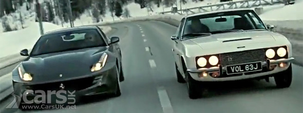 Ferrari FF & Jensen FF driving on St Moritz Road