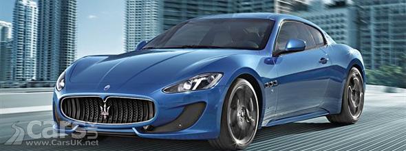 Blue Maserati GranTurismo Sport