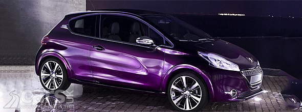 Purple Peugeot 208 XY Concept with 'Pulsion' paint