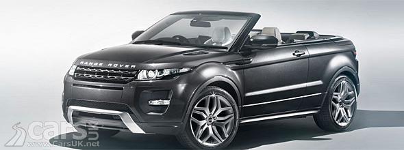 Dark grey Range Rover Evoque Convertible