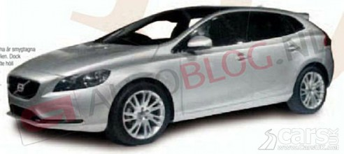 Grainy photo of a Silver 2012 Volvo V40