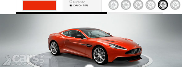 aston martin vanquish configurator. Black Bedroom Furniture Sets. Home Design Ideas