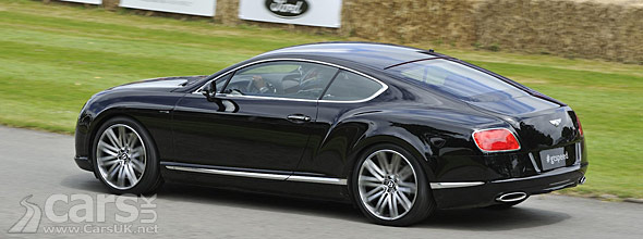 Bentley Continental GT Speed on the Goodwood hillclimb 2012