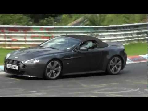 Aston Martin V12 Vantage Roadster New Vanquish Nurburgring Video