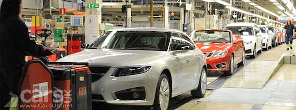 Photo of Saab production line