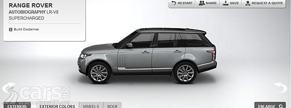 Photo of 2013 Range Rover Configurator