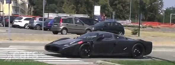 Spy photo of Ferrari F70