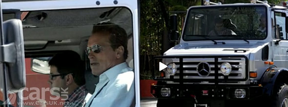 Arnold Schwarzenegger and his Mercedes Unimog