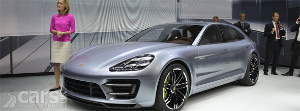 Photo of the Porsche Panamera Sport Turismo unveiling at 2012 Paris Motor Show