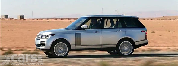 Photo of new Range Rover driving of desert road