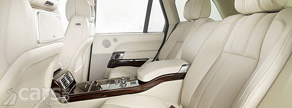 Photo of Interior of new range Rover (2013) with Bridge of Weir Leather