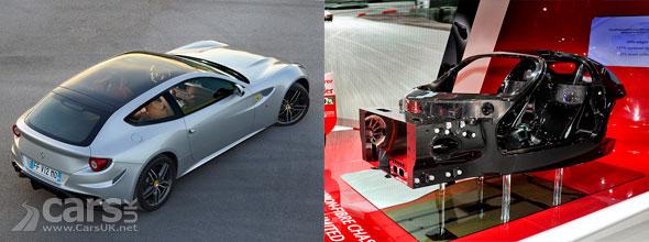 Ferrari F70 Carbon fibre tub & Ferrari FF Panormac roof