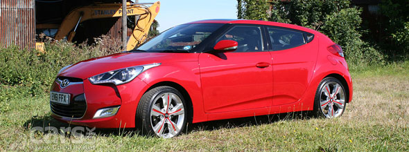 Photo of red Hyundai Veloster