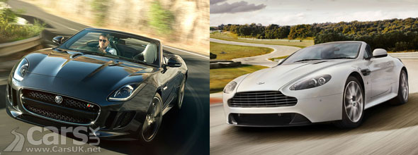 Jaguar F Type Comparable To The Aston Martin Vantage Cars Uk