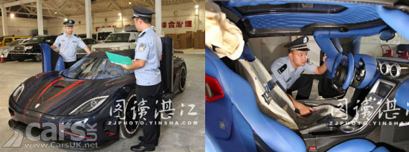 Photo of Koenigsegg Agera R BLT being inspected by Chinese Customs