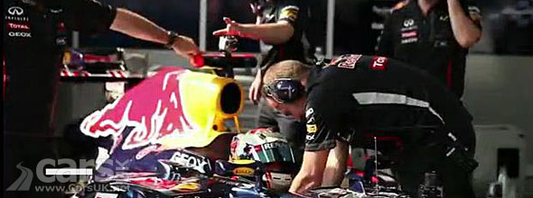 Photo of Red Bull in pits Korea 2012