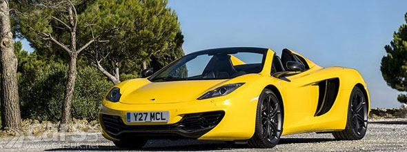 Photo of Volcano Yellow McLaren 12C Spider
