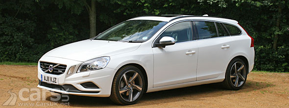 Photo of white Volvo V60 T6 Polestar