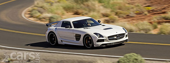 Photo of white Mercedes SLS Black Series