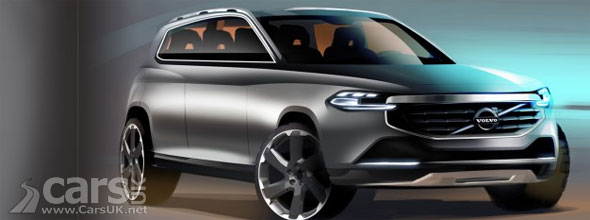 Sketch of 2014 Volvo XC90