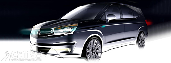 Extrior photo of new Ssangyong Rodius with slicker design