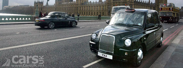London Taxi TX4 on Westminster Bridge image